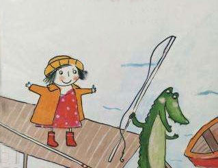 麗塔和鱷魚去釣魚