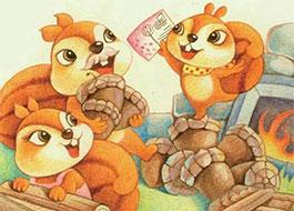 小松鼠请春天