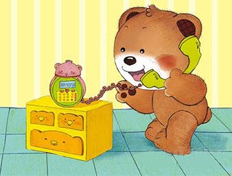 小熊满满打电话