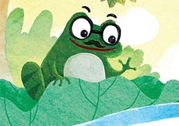 戴眼镜的青蛙