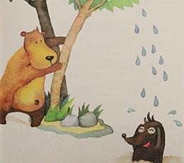 躲在树上的雨