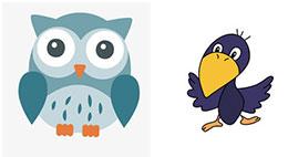 猫头鹰和乌鸦