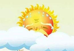 太阳先生感冒了