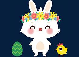 小兔的花环