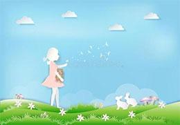 小白兔与蒲公英仙子