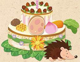 小刺猬吉吉的草莓蛋糕