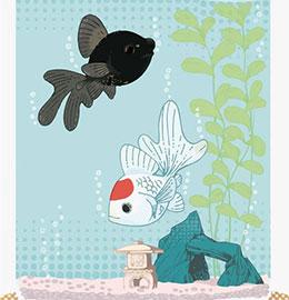 小熊养金鱼