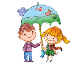 雨伞下的歌声和笑声