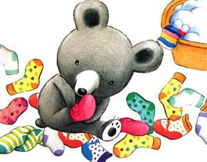 洗四十双袜子的小波波熊