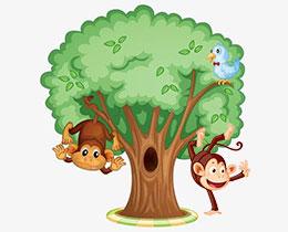 一棵很高很大的树