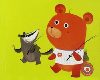呱唧獾和哼哼熊钓鱼
