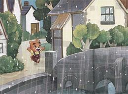 开心的雨,哗啦啦!