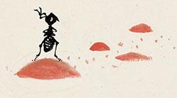 翻越大山的螞蟻
