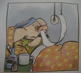 胖胖猪感冒了