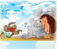 野兔和刺猬赛跑