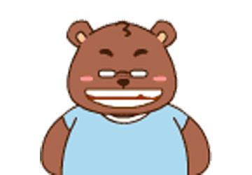 笨笨熊:掉了一颗牙