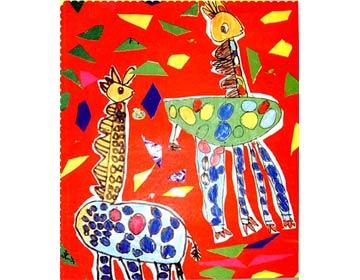长颈鹿乐乐和欢欢的故事
