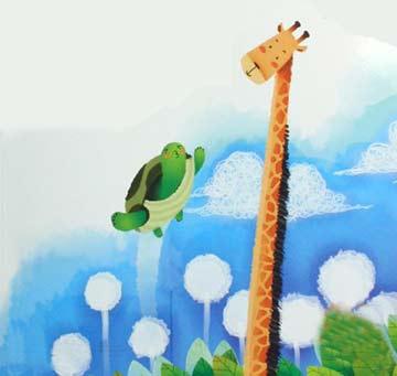 长颈鹿和乌龟的故事