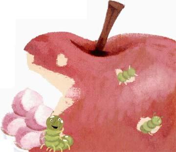 菜青虫和大苹果