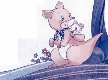 口袋長在背上的袋鼠