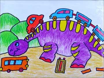 小恐龙过年