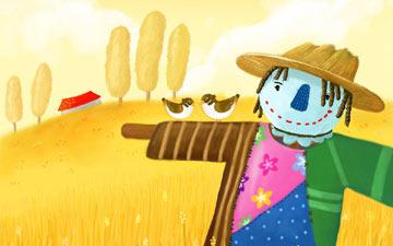 玉米和稻草人
