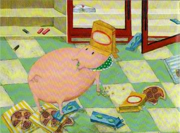 一只很饿很饿的小猪