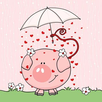哼哼猪的雨伞