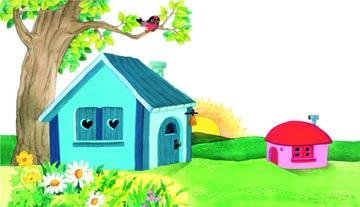 红房子 蓝房子