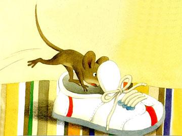 玩躲猫猫的老鼠