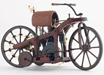 戴姆拉发明了摩托车