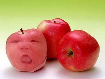 苹果睡着了