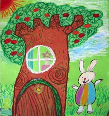 小兔秋秋和苹果树