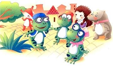 大嗓门青蛙和小嗓门青蛙