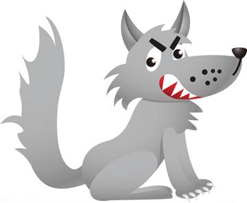 黑狼、黑狼太太和小黑狼