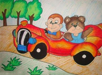 小猴的出租车
