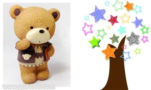儿童童话故事胖胖熊的星星树
