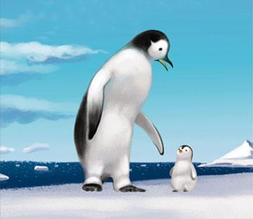 小企鹅和爸爸