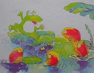 小青蛙聽故事
