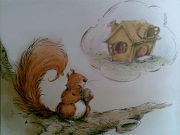 小松鼠造新房