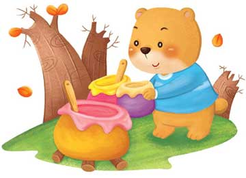 小熊帮忙做果酱