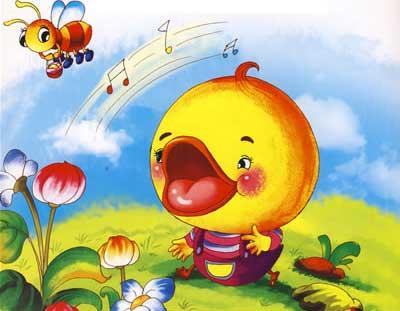 爱唱歌的小鸭子的故事