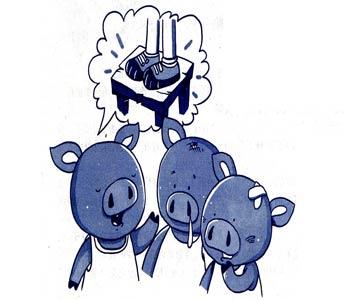 """三只小猪和""""电老虎"""""""