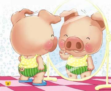 小猪照镜子
