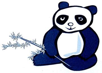 小熊猫学本领