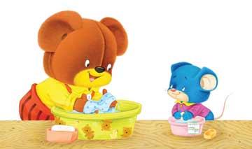 小熊洗衣服