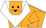 折纸狮子:纸狮子的折法